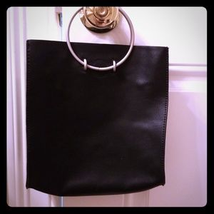 Handbags - NWT black vegan leather bag set